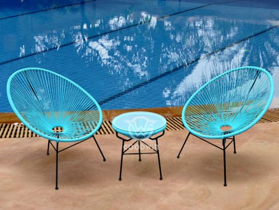 Colorful Round Rattan Leisure Set
