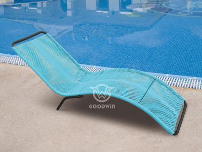 Colorful Round Rattan Sun Lounger