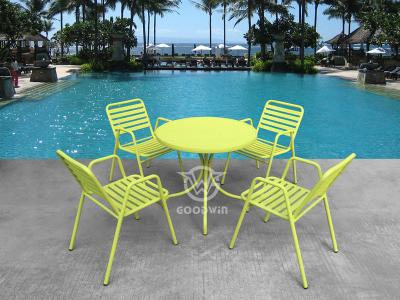 Outdoor Aluminum Frame Dining Set
