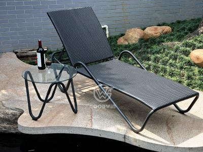 Outdoor Wicker Sun Lounger