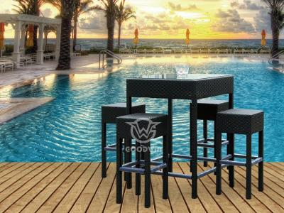 Synthetic Rattan Bar Set