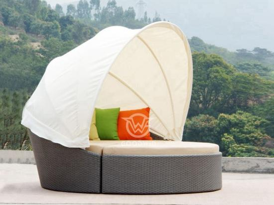 2 In 1 Outdoor Rattan Daybed