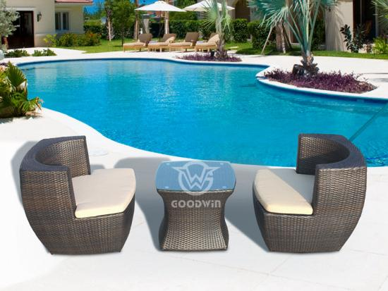 Rattan Chairs And Table Set
