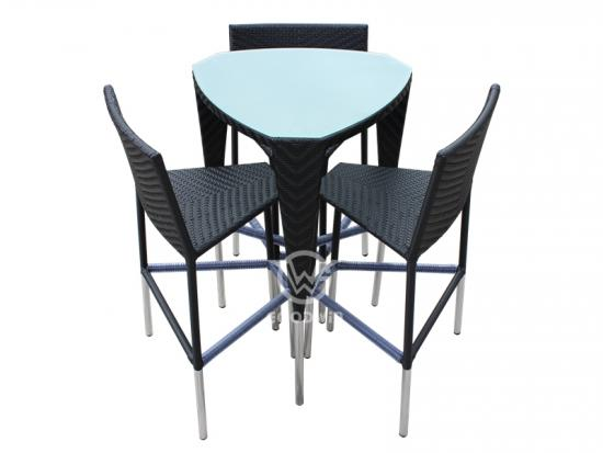 Rattan Bar Chair For Outdoor